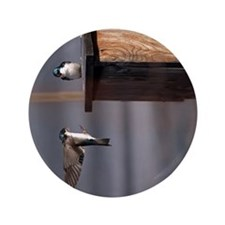 """(20p) Swallows 9659 3.5"""" Button"""