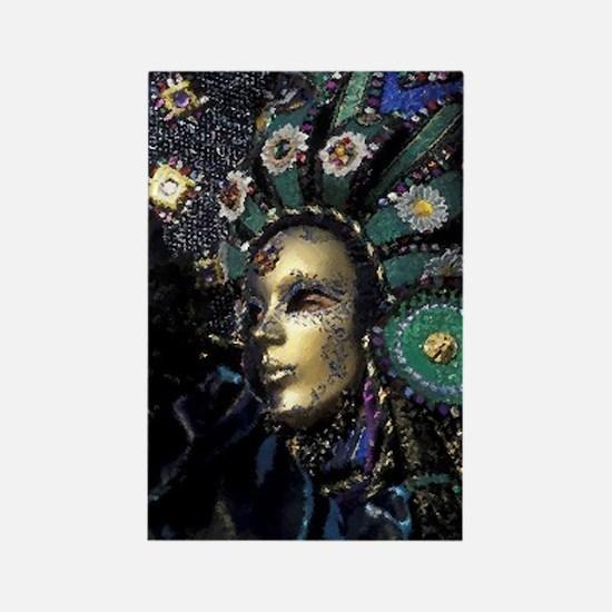 New Orleans Mardi Gras Mask Rectangle Magnet