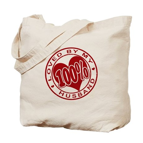 100% Loved by my Husband Tote Bag