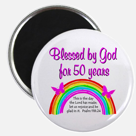 BLESSED 50TH Magnet