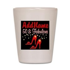 RED HOT 50TH Shot Glass