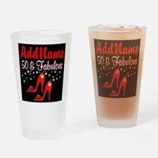 RED HOT 50TH Drinking Glass