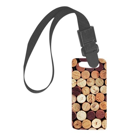Wine Corks Small Luggage Tag