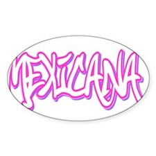 Mexicana Female Oval Decal