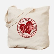 100% Loved By My GodDaughter Tote Bag