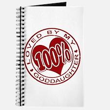 100% Loved By My GodDaughter Journal