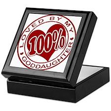 100% Loved By My GodDaughter Keepsake Box