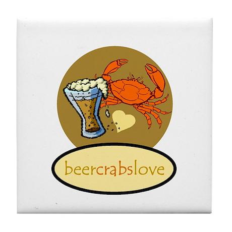 Beer & Crabs Tile Coaster
