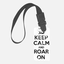Detroit D Keep Calm and Roar On Luggage Tag