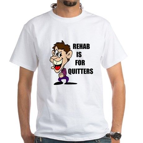 QUITTERS White T-shirt