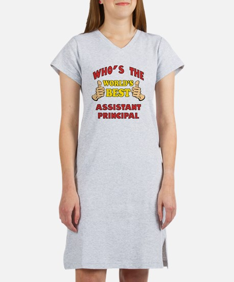 Thumbs Up Worlds Best Assistant Women's Nightshirt