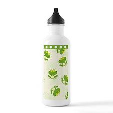 Green Frog Pattern Water Bottle