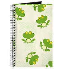Green Frog Pattern Journal
