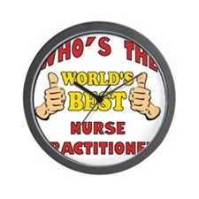 Thumbs Up Worlds Best Nurse Practitione Wall Clock