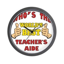 Thumbs Up Worlds Best School Teachers A Wall Clock