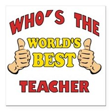 """Thumbs Up Worlds Best Sc Square Car Magnet 3"""" x 3"""""""
