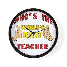Thumbs Up Worlds Best School Teacher Wall Clock