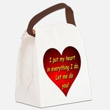 Let Me Do You! Canvas Lunch Bag