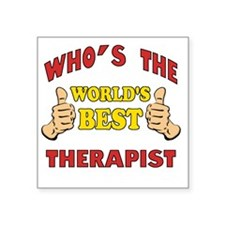 "Thumbs Up Worlds Best Schoo Square Sticker 3"" x 3"""