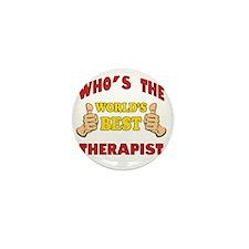 Thumbs Up Worlds Best School Therapist Mini Button