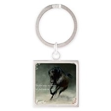 Four feet move your soul Square Keychain