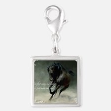 Four feet move your soul Silver Square Charm
