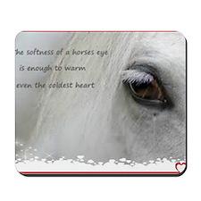 The softness of a horses eye Mousepad
