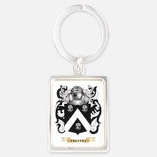 Treffry Family Crest (Coat of Ar Portrait Keychain