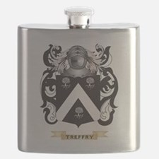 Treffry Family Crest (Coat of Arms) Flask