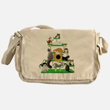 Christmas Cat Tree Messenger Bag