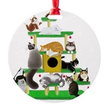 Christmas Cat Tree Ornament