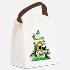 Christmas Cat Tree Canvas Lunch Bag