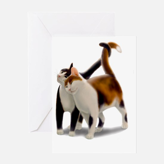 Kitty Cat Friends Greeting Card