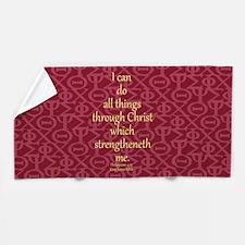 Philippians 4:13 ixoye rose Beach Towel