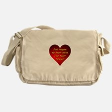 My Heart Inside Your Heart Messenger Bag