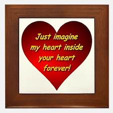 My Heart Inside Your Heart Framed Tile
