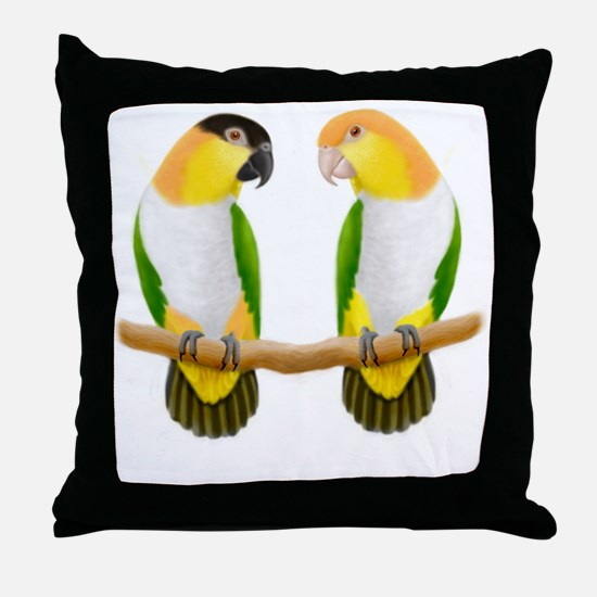Caique Parrot Love Throw Pillow