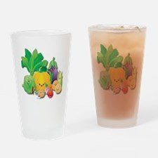 Vegetable Family Reunion Drinking Glass