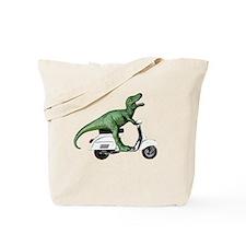 t-rex vintage scooter Tote Bag