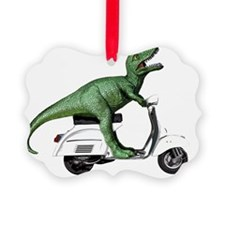 t-rex vintage scooter Ornament