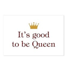 It's good to be Queen Postcards (Package of 8)