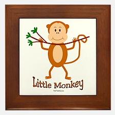 Little Monkey Framed Tile