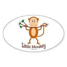 Little Monkey Oval Decal