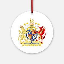 Elizabeth I Coat of Arms Round Ornament