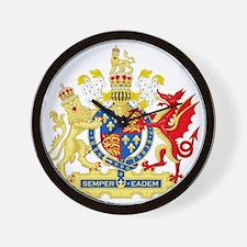 Elizabeth I Coat of Arms Wall Clock