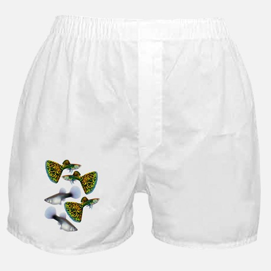 Snakeskin Cobra Guppy Fish Boxer Shorts