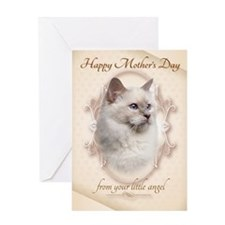 Funny Birman Cat Mothers Day Cards