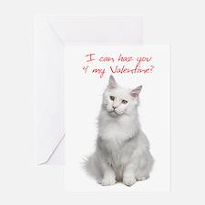 Cute Cat Valentine Cards