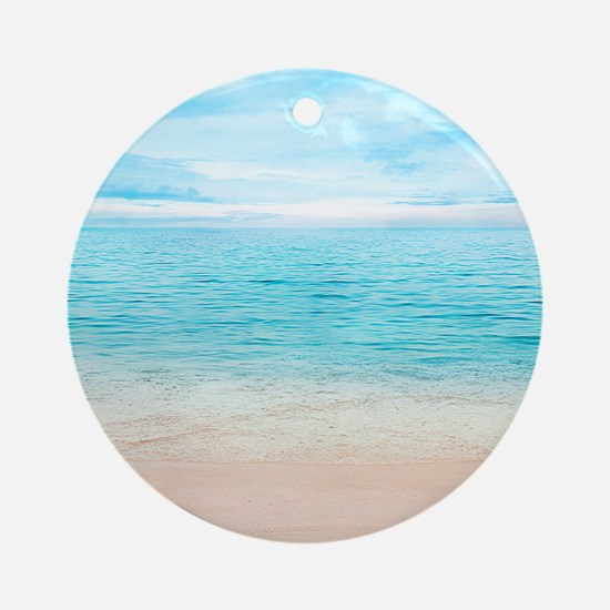 Beautiful Beach Round Ornament