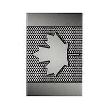 Canadian Flag Brushed Metal Canad Rectangle Magnet